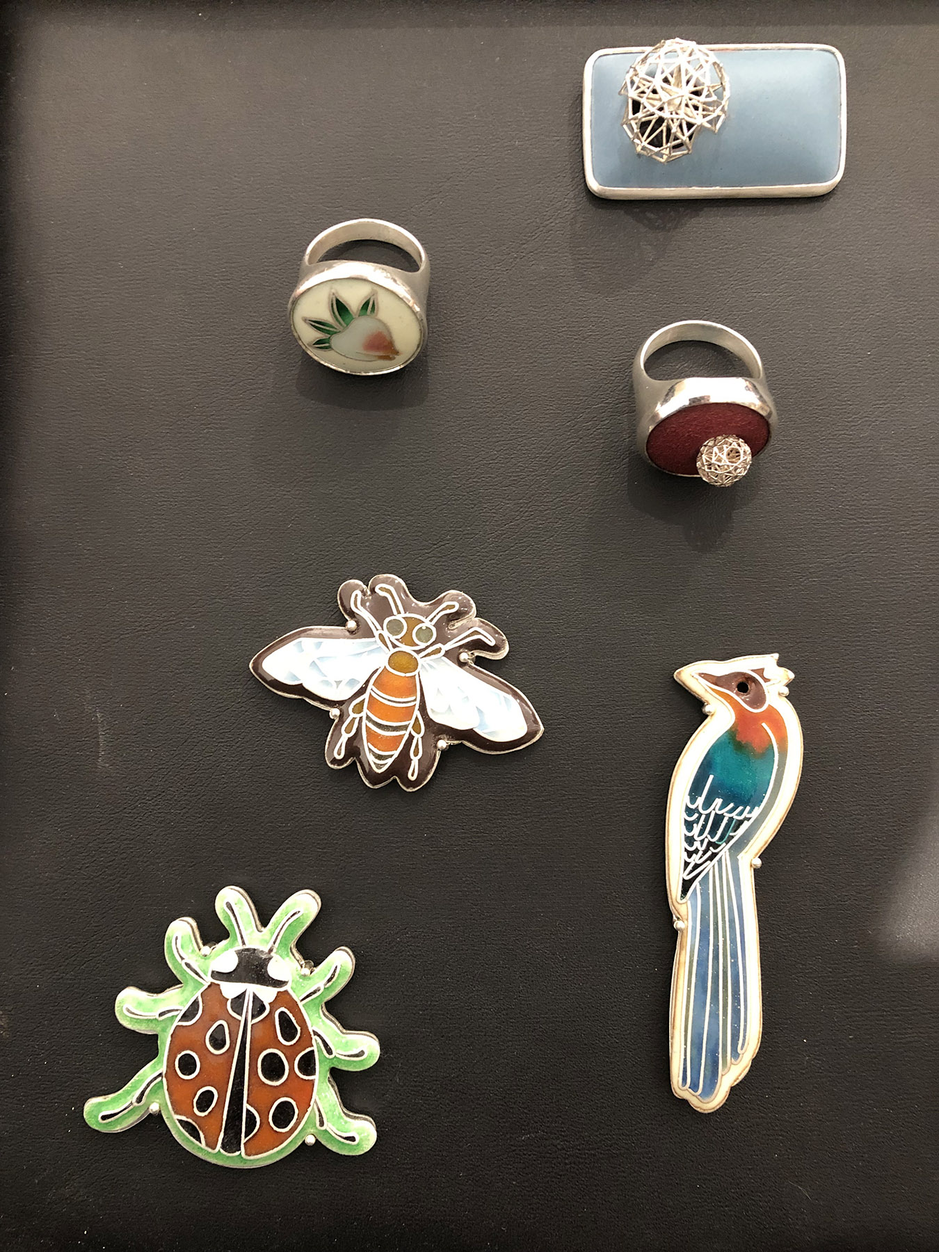 Enamel brooches by Alice Yujing Yan