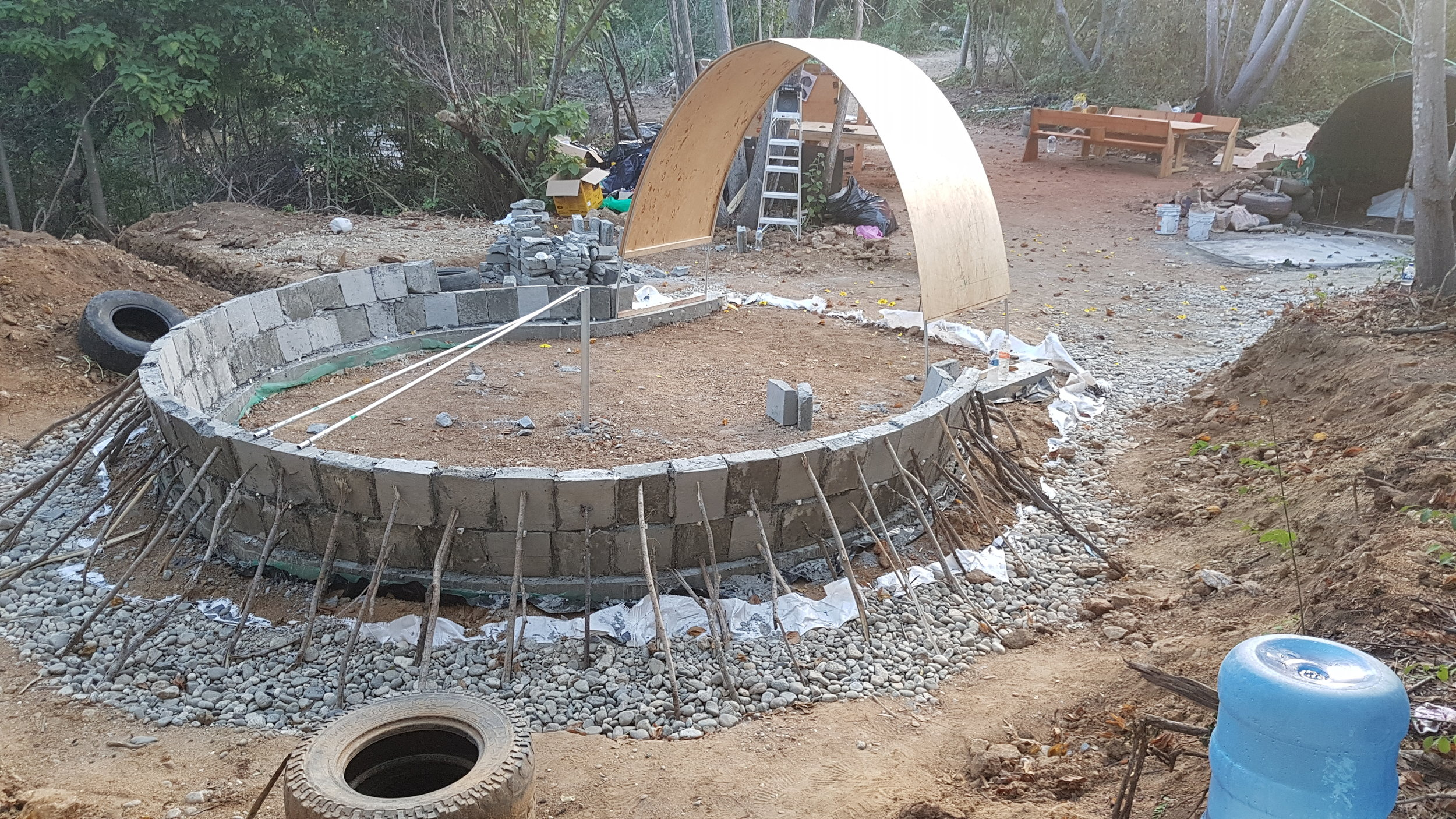 We have 35 people that came now to build a AIRCRETE DOME as the first unit of the orphanage!   HELP US to keep going!