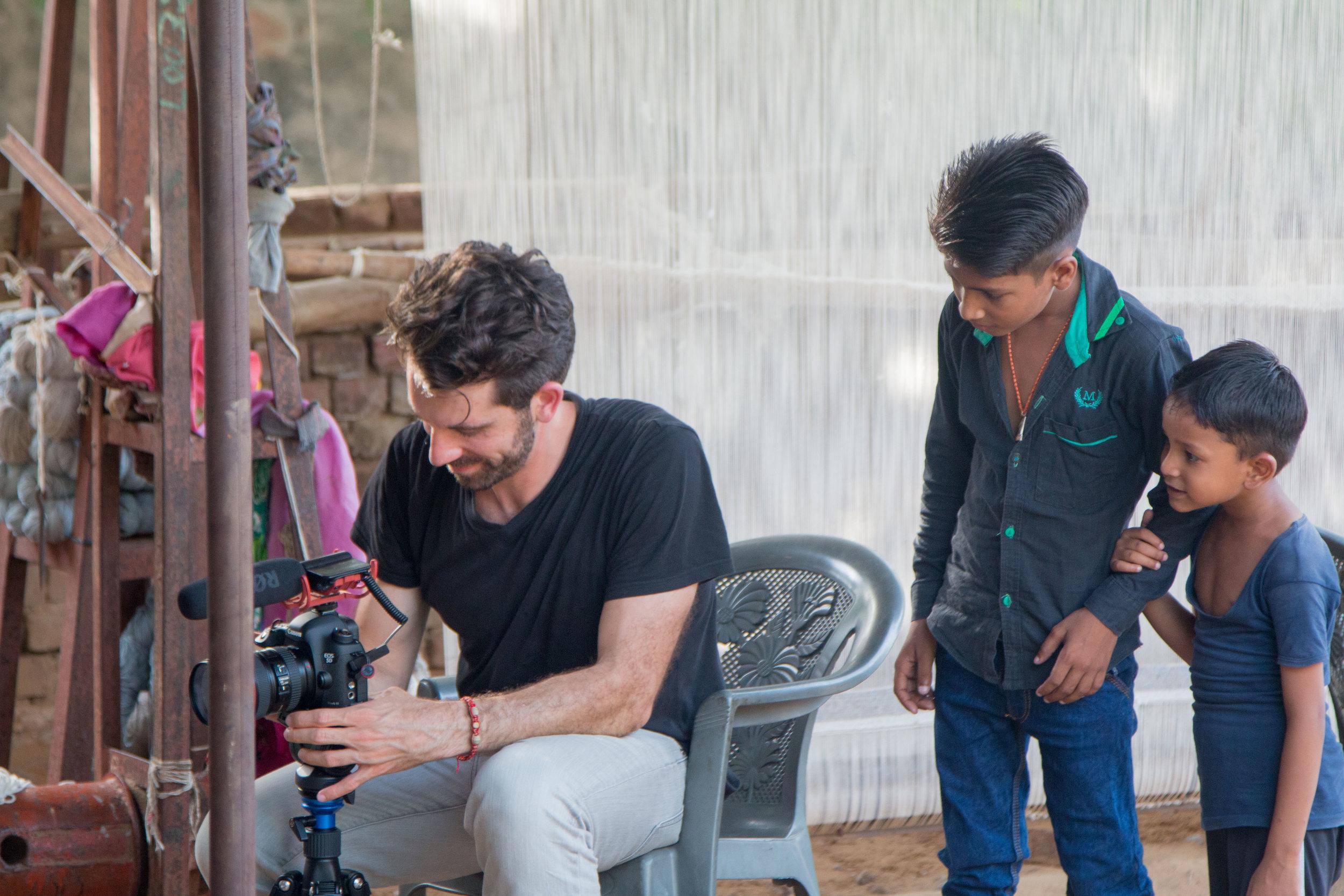 Filming in Jaipur