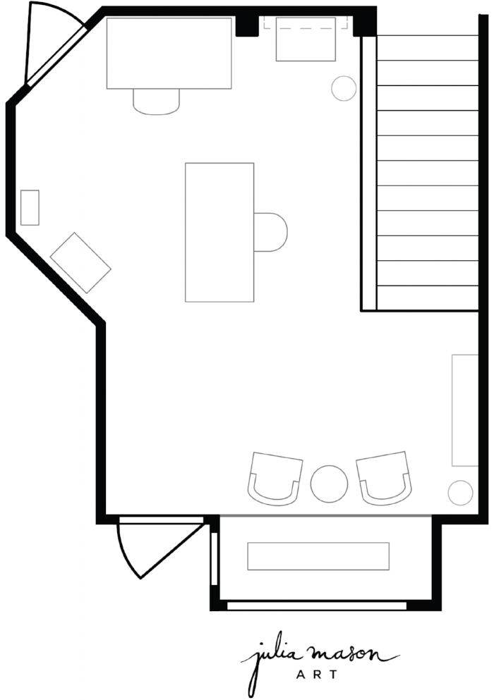 Floor plan drawn by Tara Miller at The Heartland Interior Design