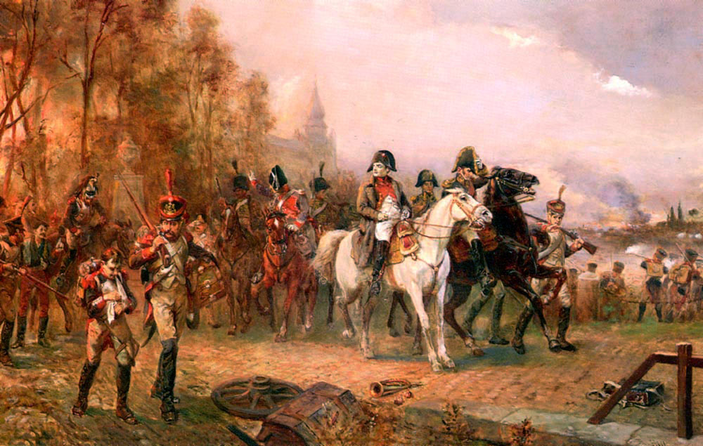 Hillingford - Napoleon with His Troops at the Battle of Borodino, 1812