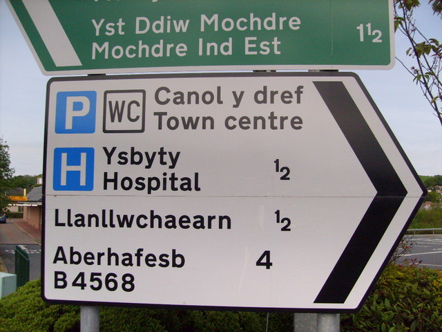 Welsh road signs