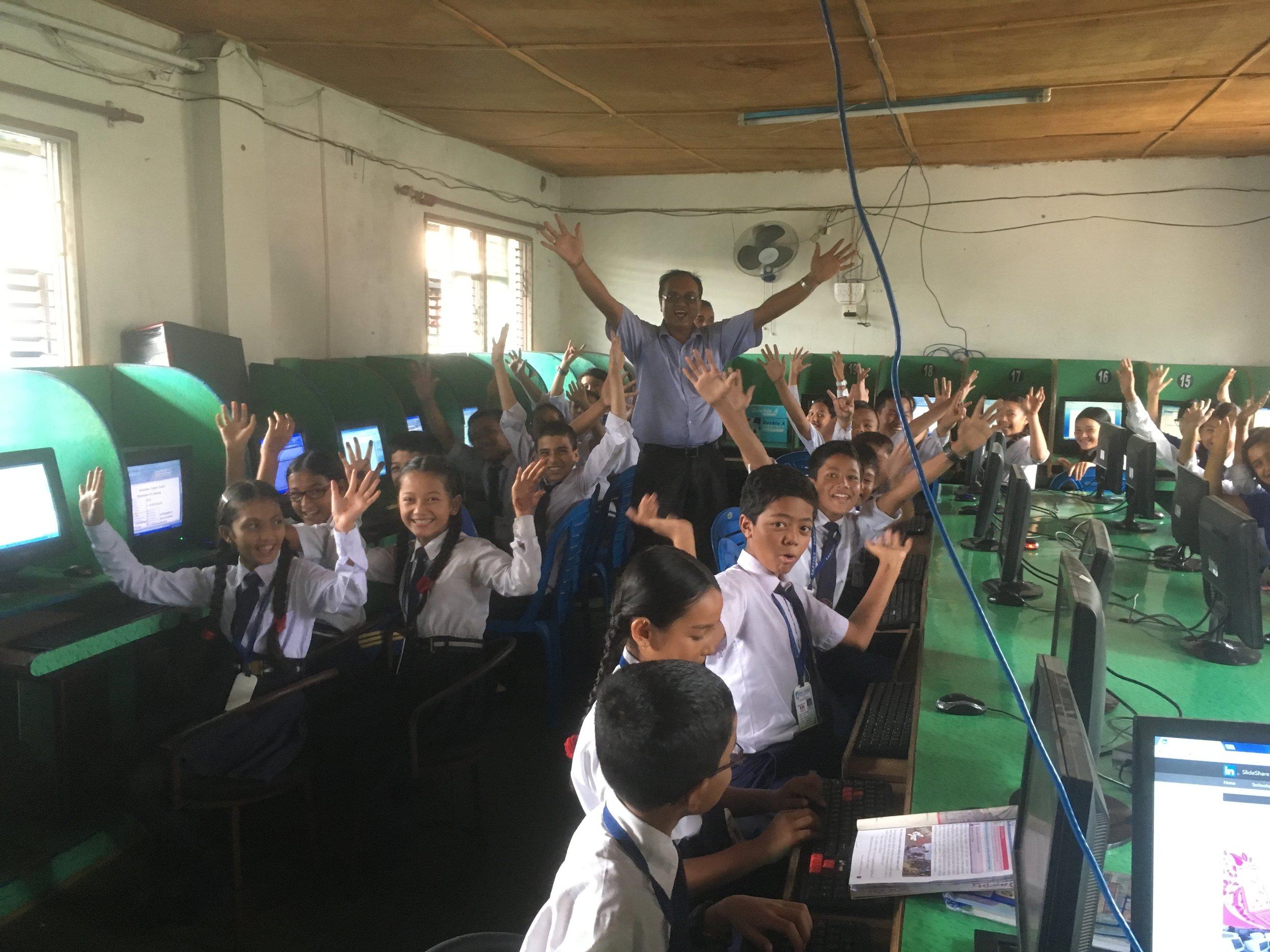 The school computer room