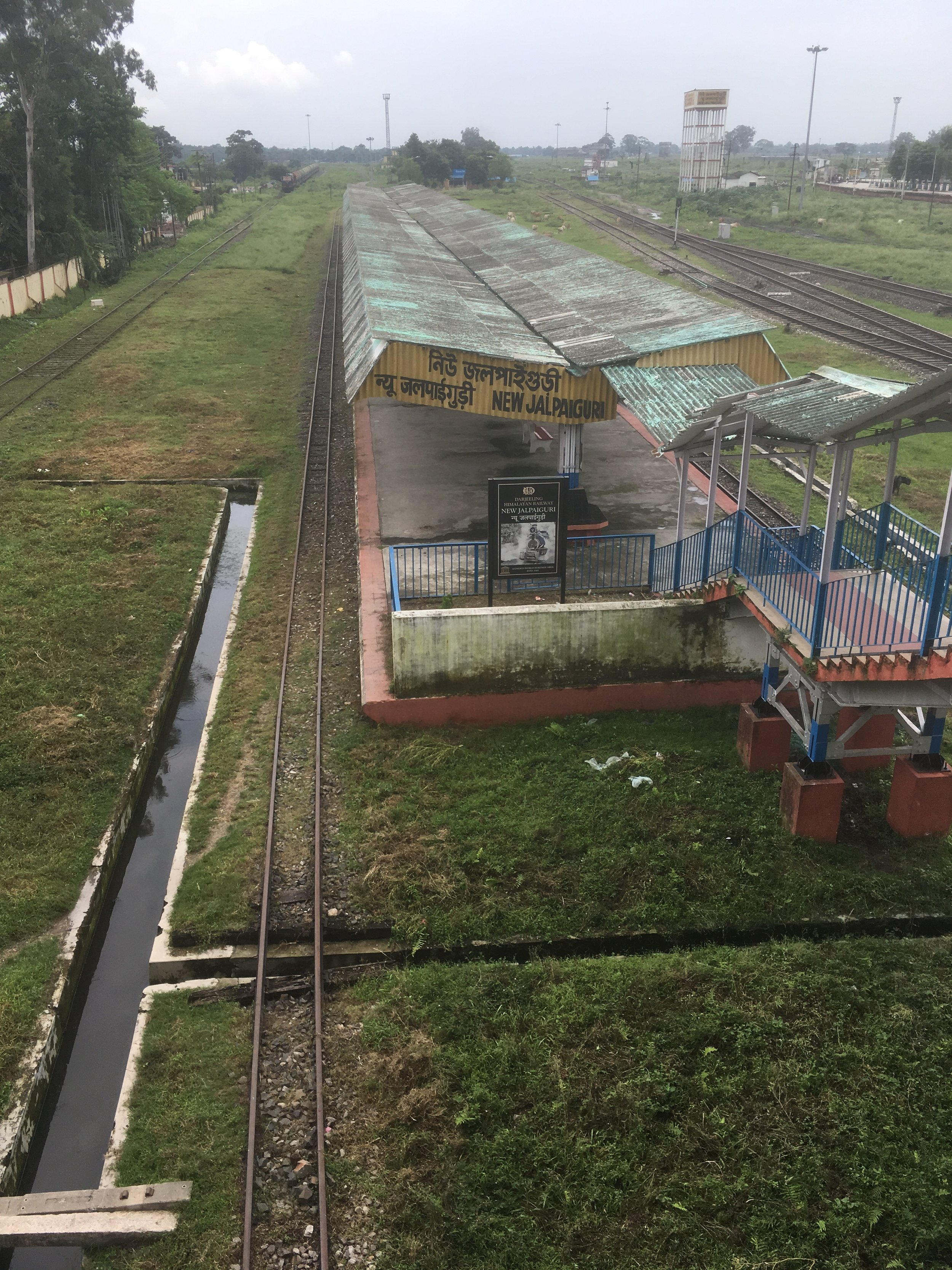 Small gauge train track form Siliguri to Darjeeling