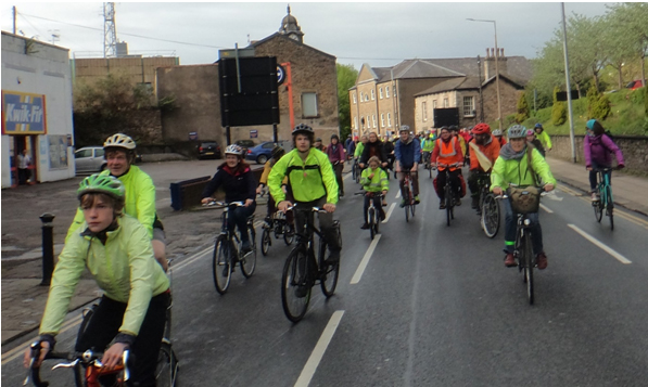Cyclists participating in the Lancaster XR event