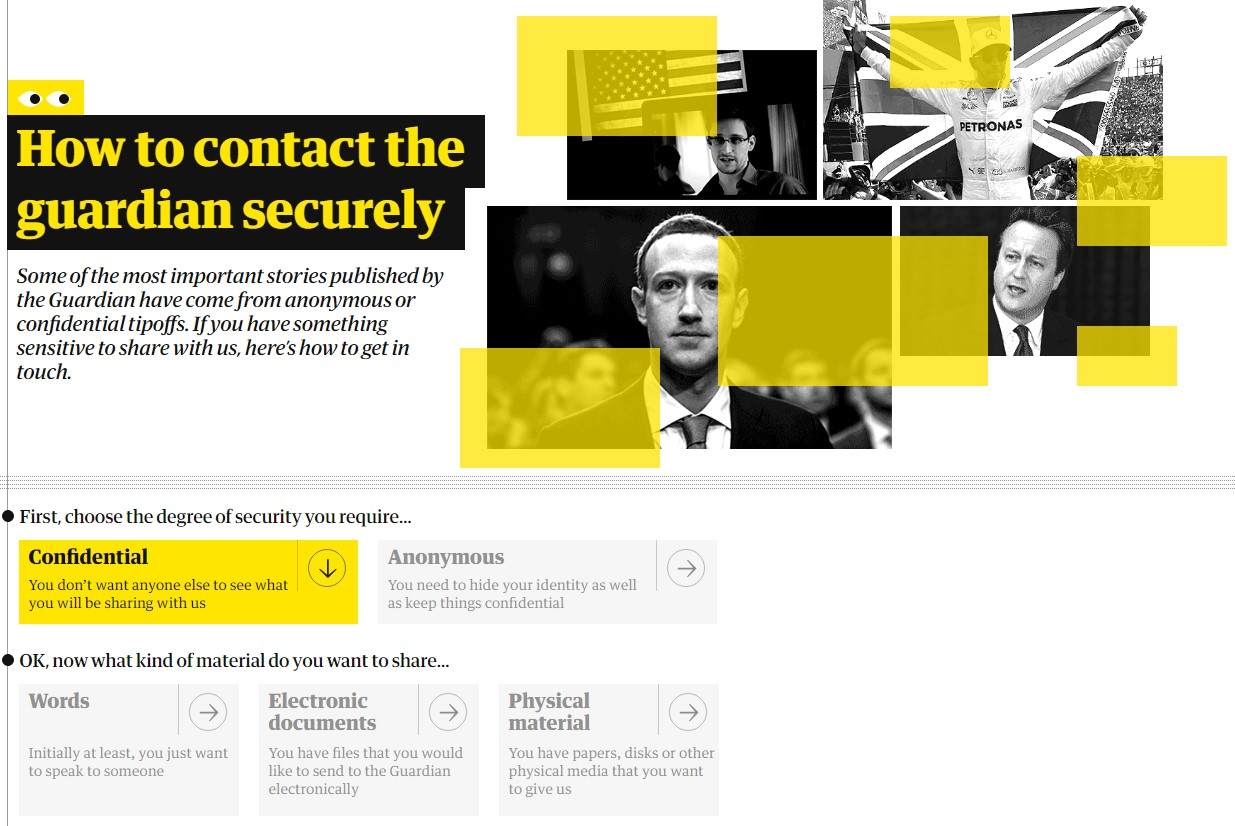 'How to contact the guardian securely'