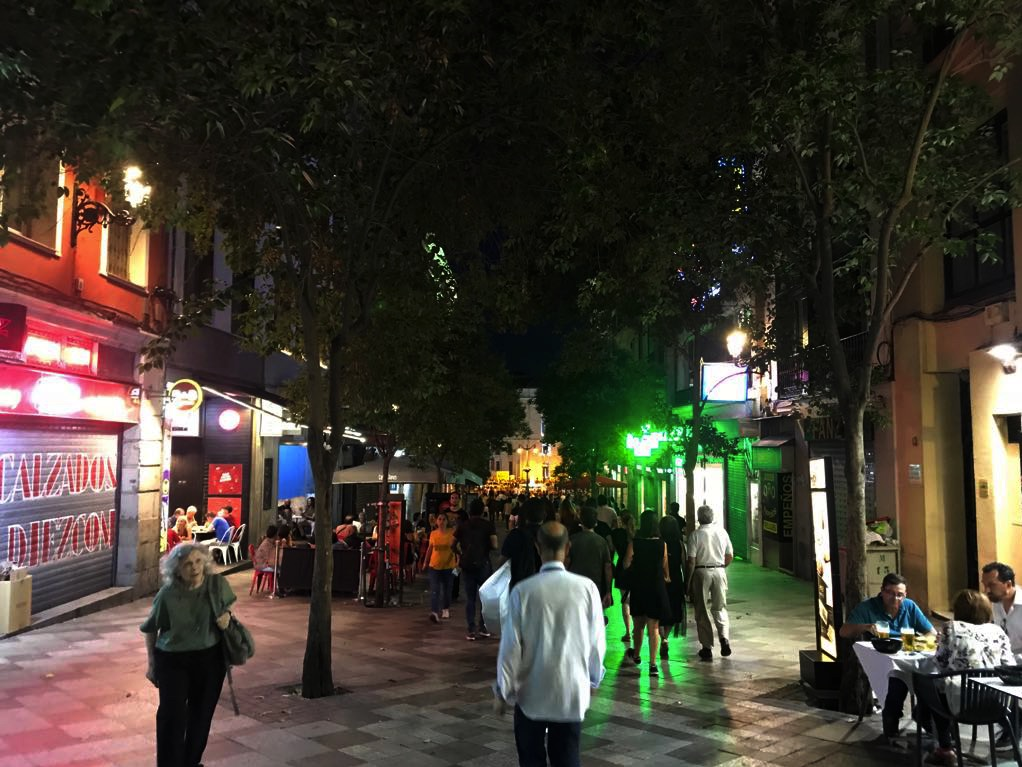 Calle Montera en Madrid.