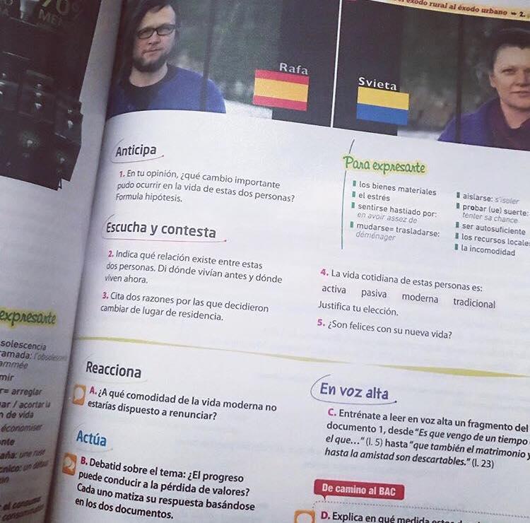 libro de texto en español
