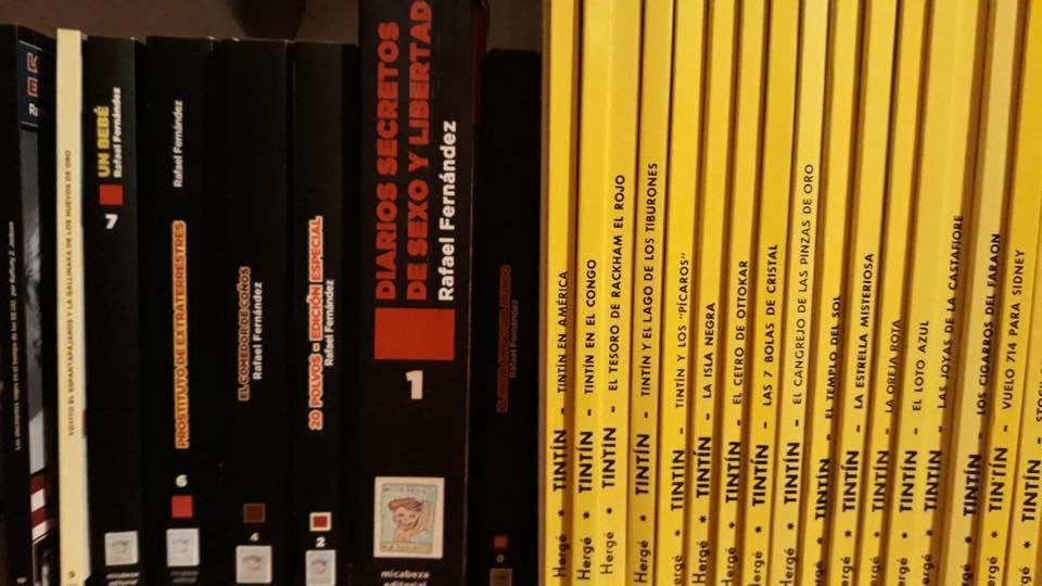 ¡Qué ilusión estar al lado de Tintín! ¡Devoraba estos libros de pequeñín! ¡Me los leí más de 200 veces!