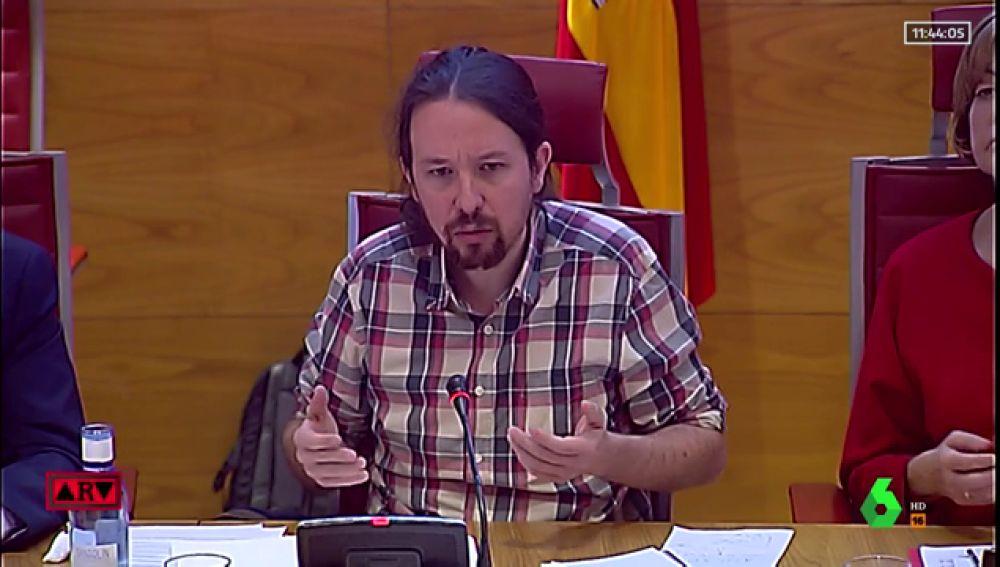 Este es el político Pablo Iglesías, para quien me lea de fuera de España. Por aquí estamos en campaña electoral.