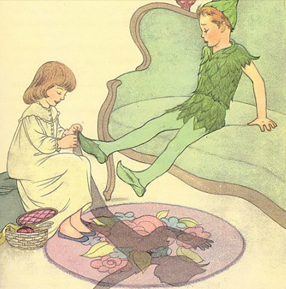 ¡No, Peter Pan! ¡Aléjate de Wendy! ¡Mucho mejor sin sombra!