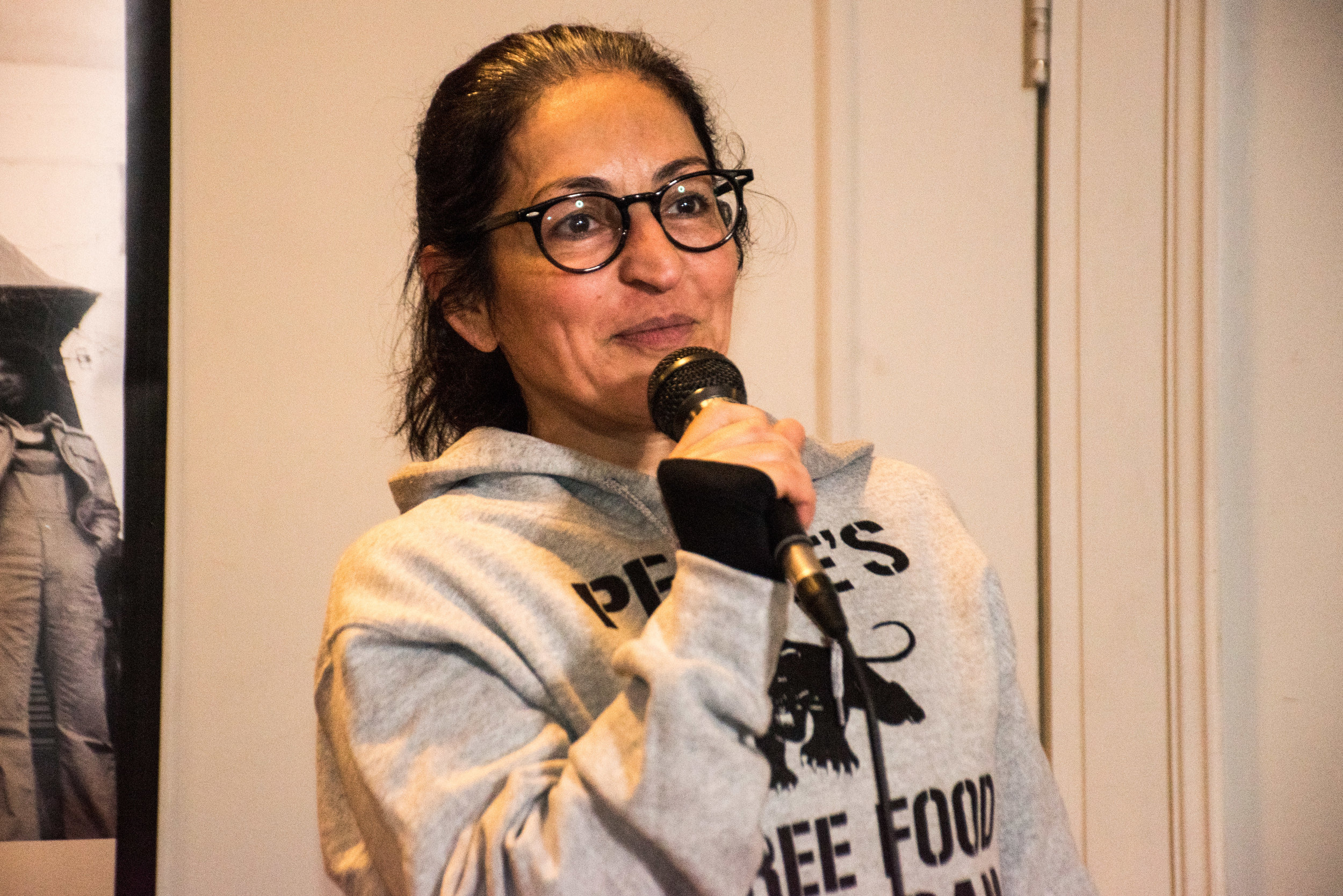 Jan 5 Peoples Constitutional Protest Party for Mumia's Freedom  Susie Abulhawa expressed solidarity with Mumia from the movement to free Palestine.