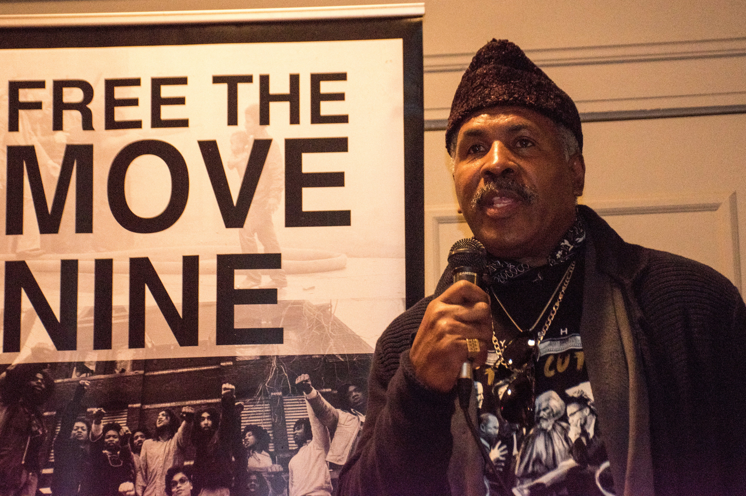 Jan 5 Peoples Constitutional Protest Party for Mumia's Freedom  James Chisolm, Jr. recounted being a high school organizer with Mumia at Benjamin Franklin High School, fighting racism within the school system in the 1970's.