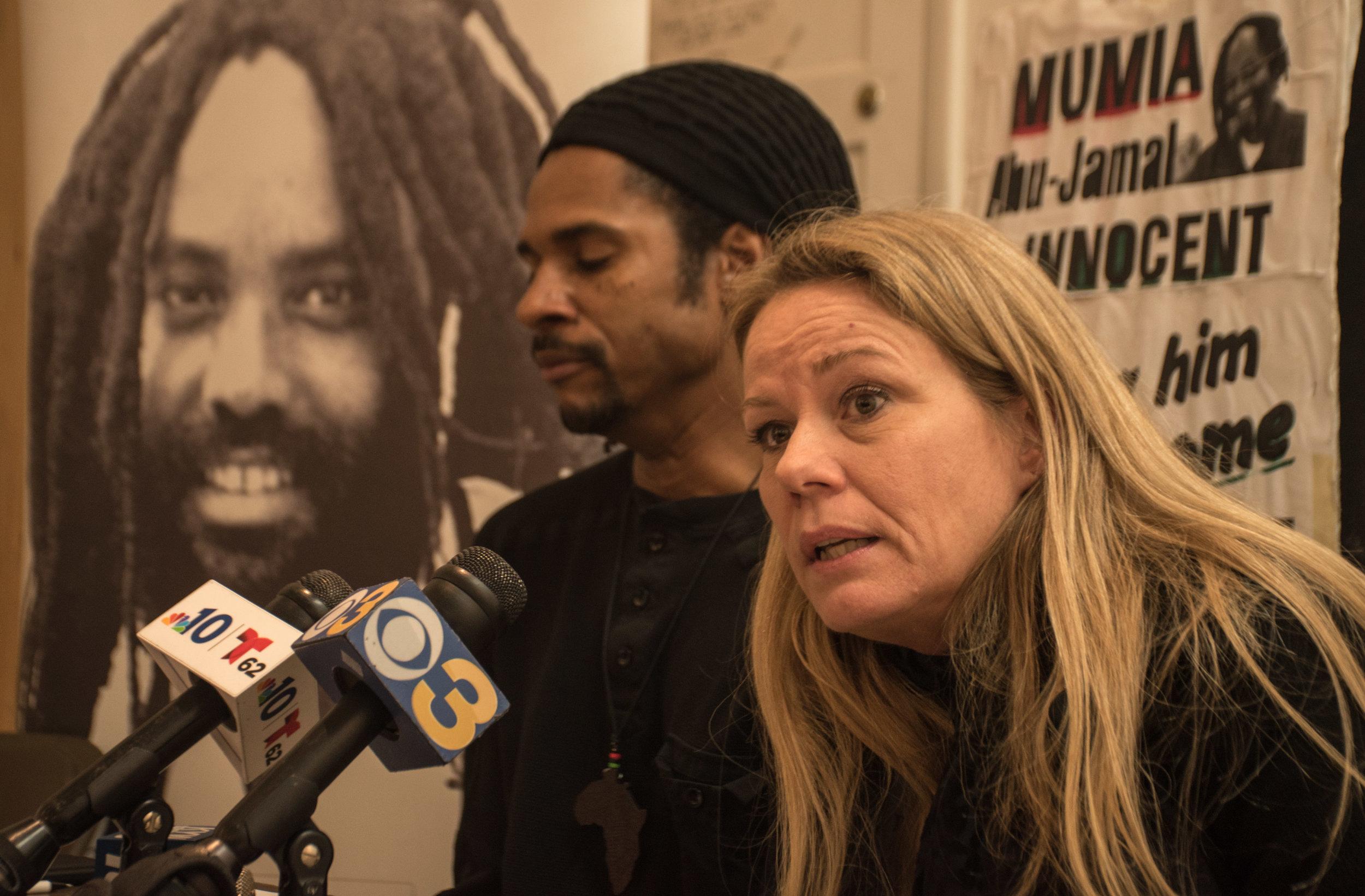 Jan 15, 2019 Press Conference  L to R: Mike Africa JR; Sandra Joy