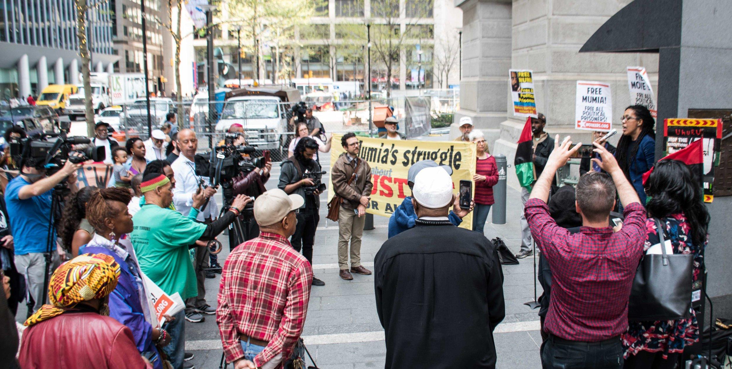 Philadelphia, Apr 18, 2019 - Press Conference for Mumia Abu-Jamal. (photo credit: Joe Piette)