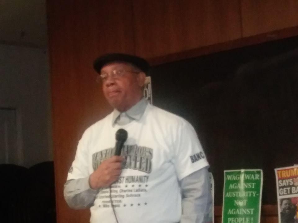 Detroit, April 20 - Rev. Edward Pinkney (Photograph taken by Abayomi Azikiwe, Pan-African News Wire)