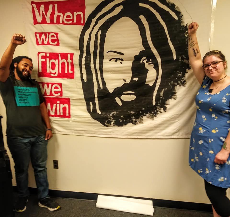 EXPOSING THE COVER-UP; JUSTICE FOR MUMIA meeting on May 18 at Joseph E Coleman Northwest Regional Library in Germanyown section of Philadelphia. Photo: Cindy Lou
