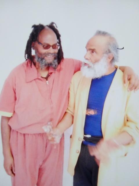 Mumia Abu-Jamal with Dr Joseph Harris  Photo taken by prisoner-photographer