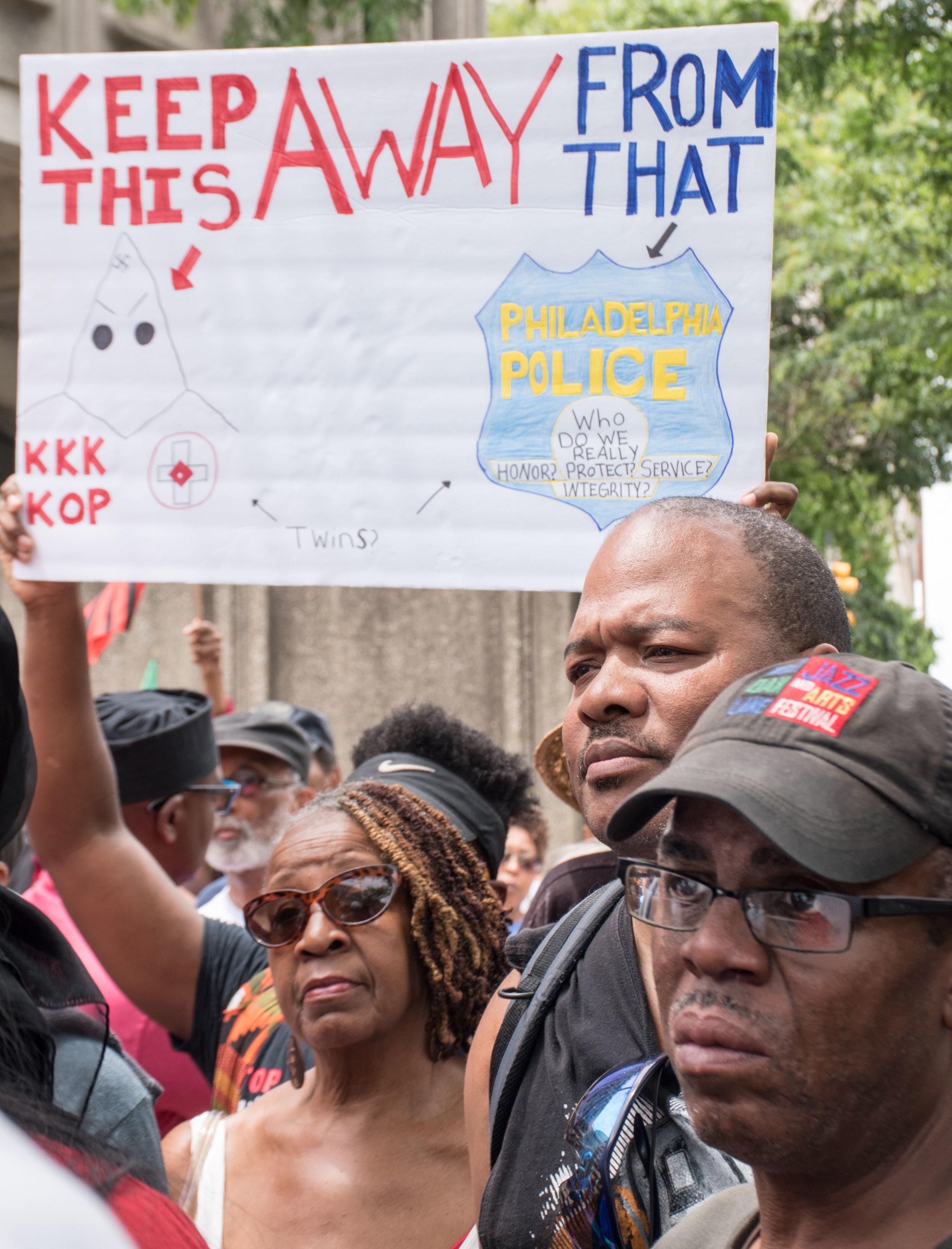 June 7 protest at Philadelphia Police HQ  photo: Joe Piette