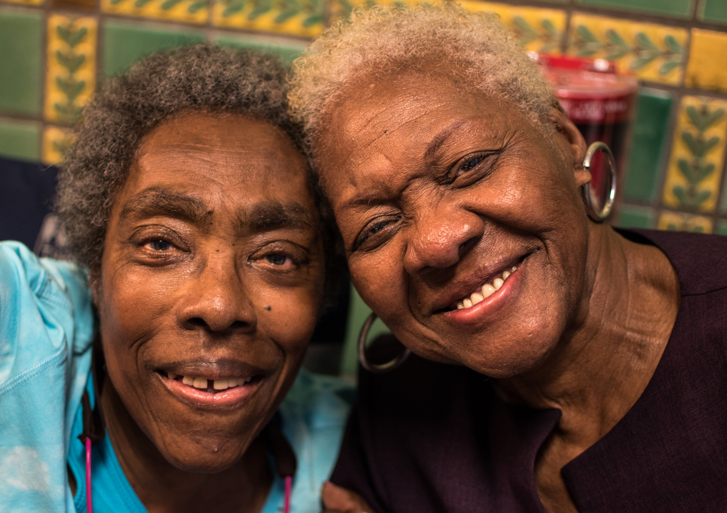 L to R: Ramona Africa and her mother Eleanor Johnson on June 8,2019.  photo: Joe Piette