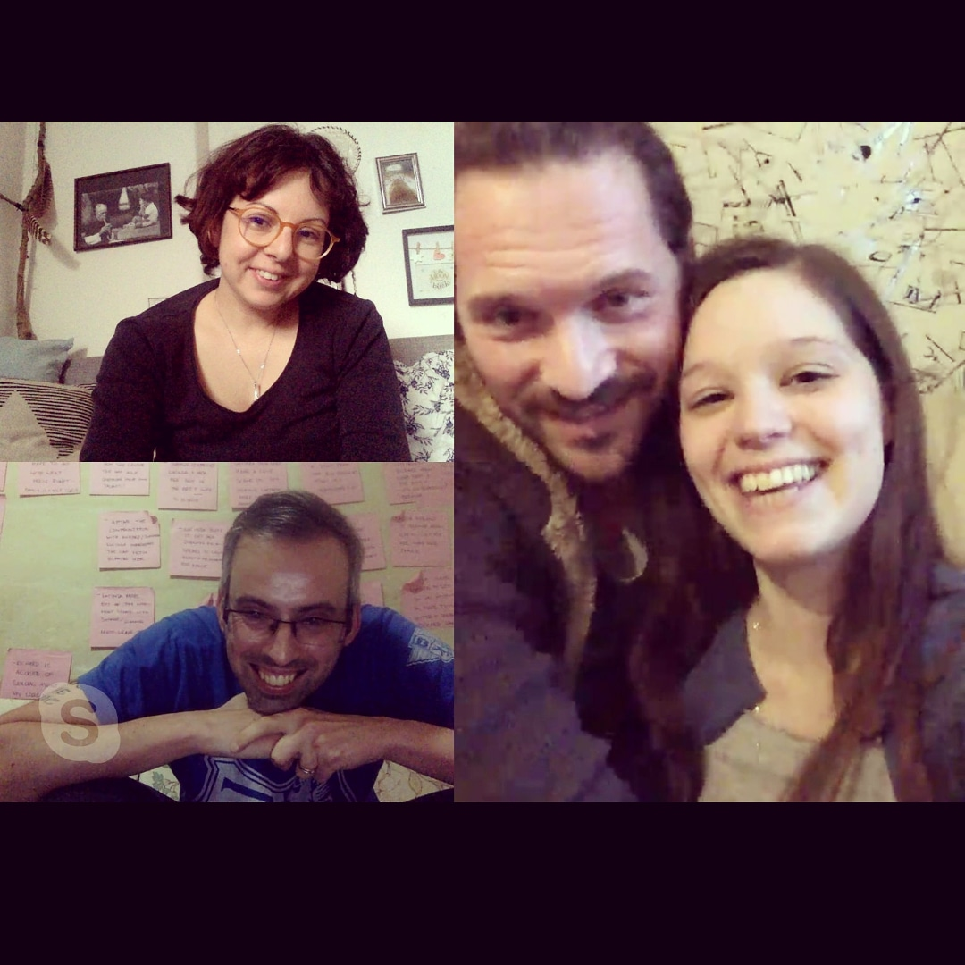 Skype meeting with Savo and Sarah for Malta to Berlin regarding Life Improvised