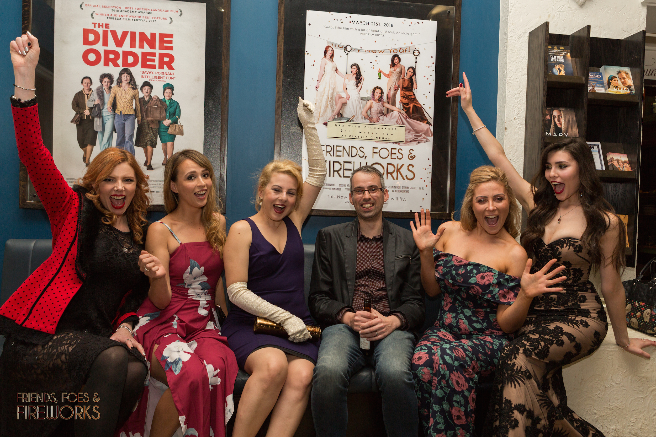 Friends, Foes & Fireworks cinema run kicked off in Elsternwick's The Classic Cinema with our cast