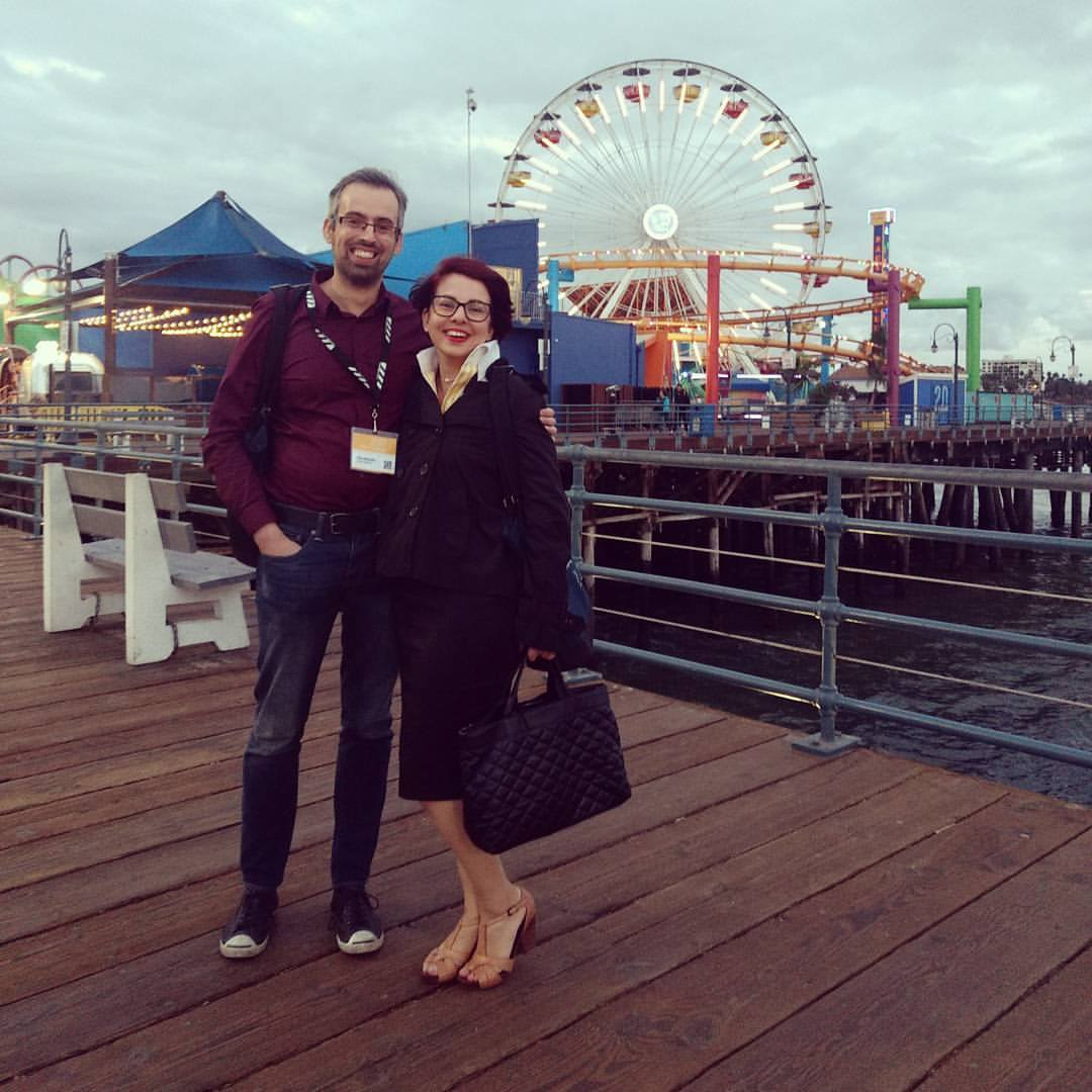 Santa Monica Pier after a long day of meetings at the American Film Market