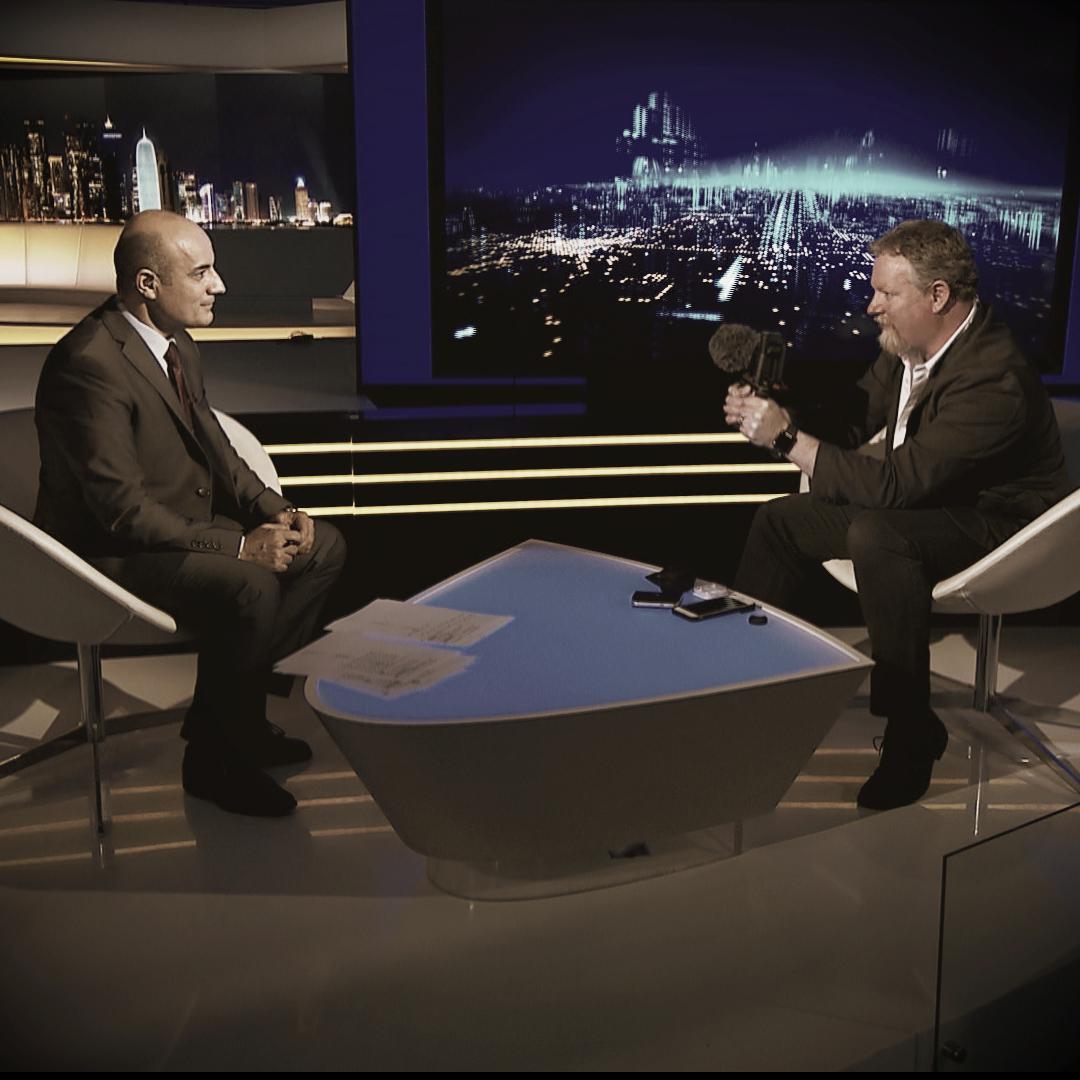 Glen being interviewed on Aljazeera about mobile journalism