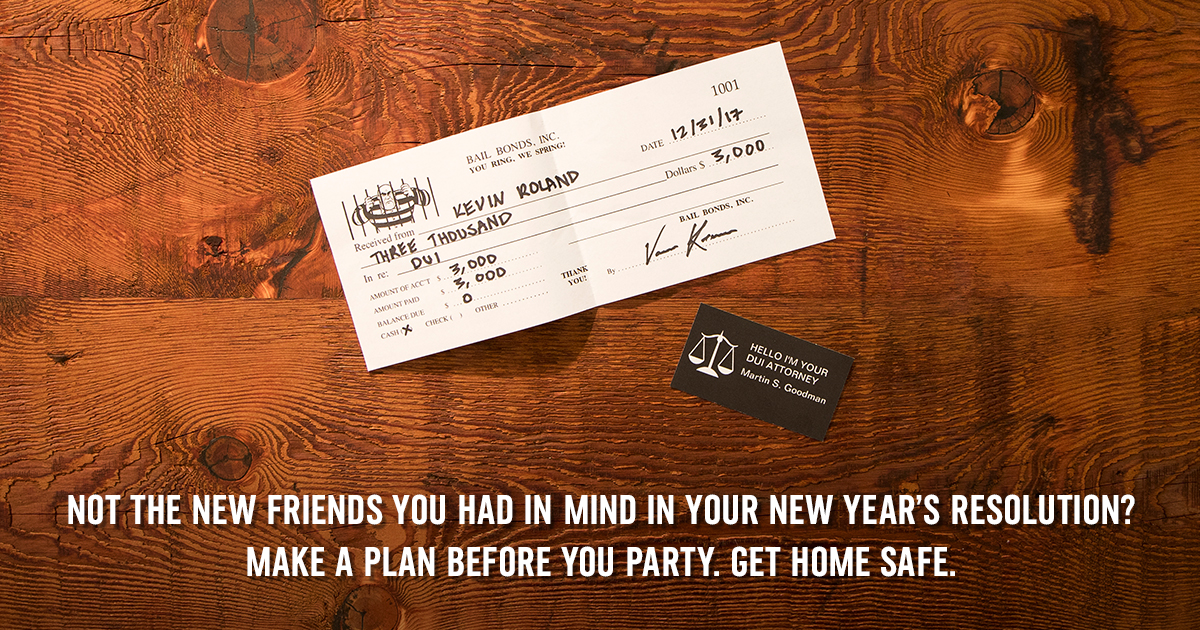 """DUI """"New Year's Consequences"""" Facebook"""