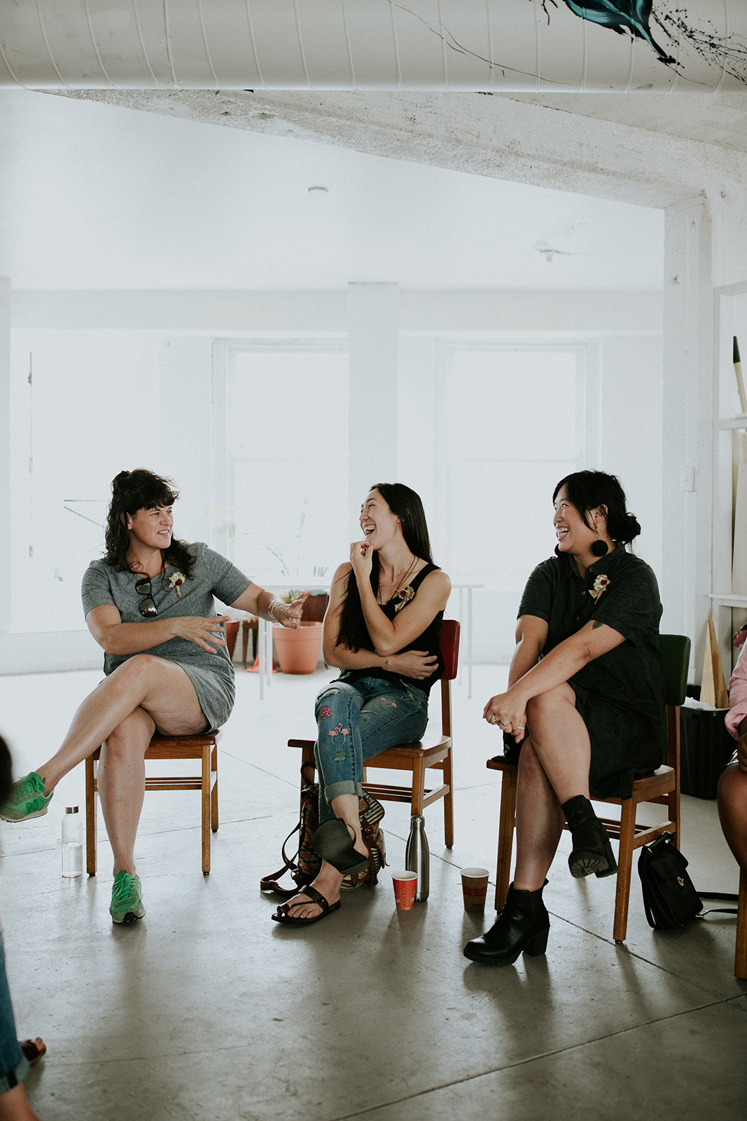 From left to right: Lisa Waud, Meiko Krishok and Eileen Lee.