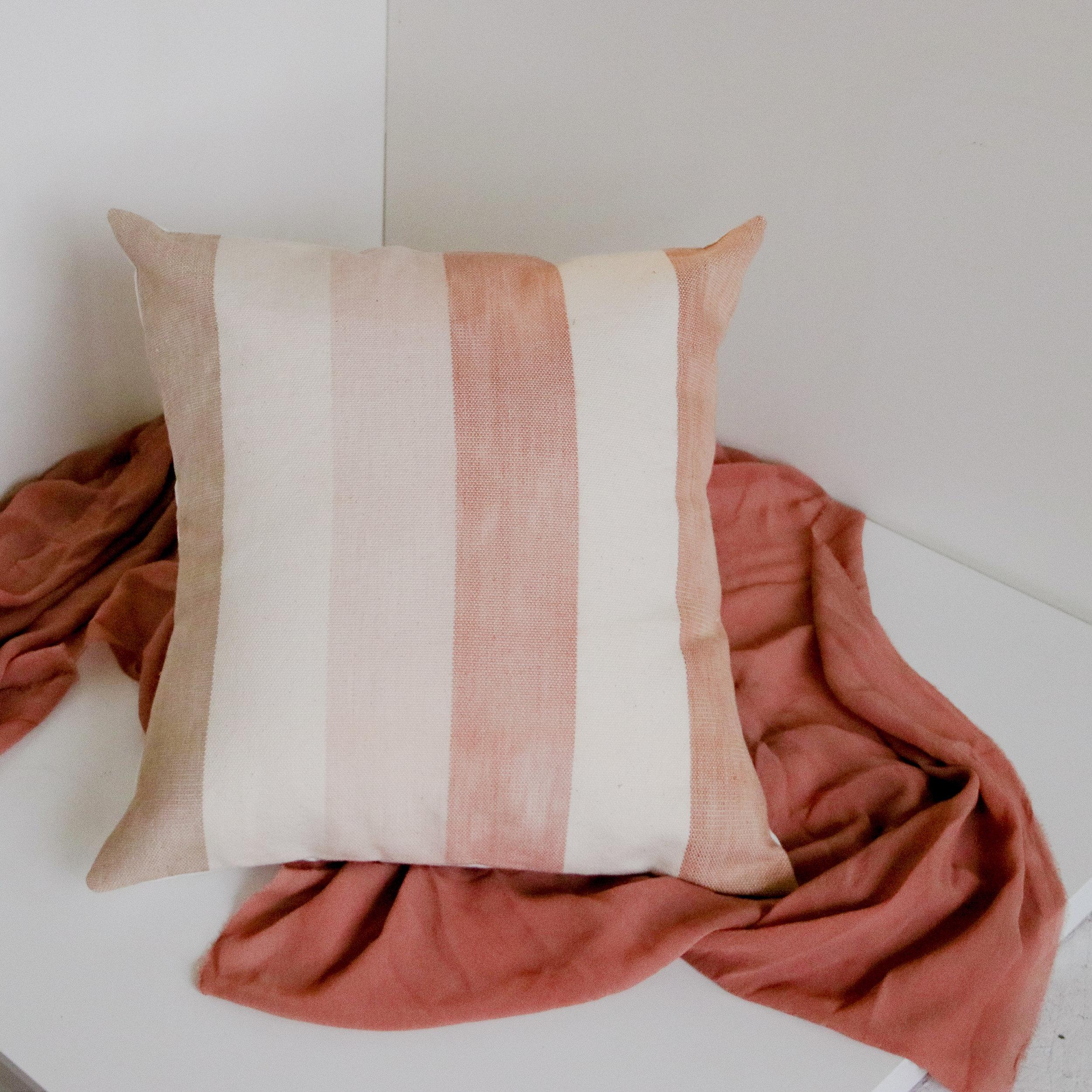 Fawn Woven Pillow -Salt Textile Studios - $95