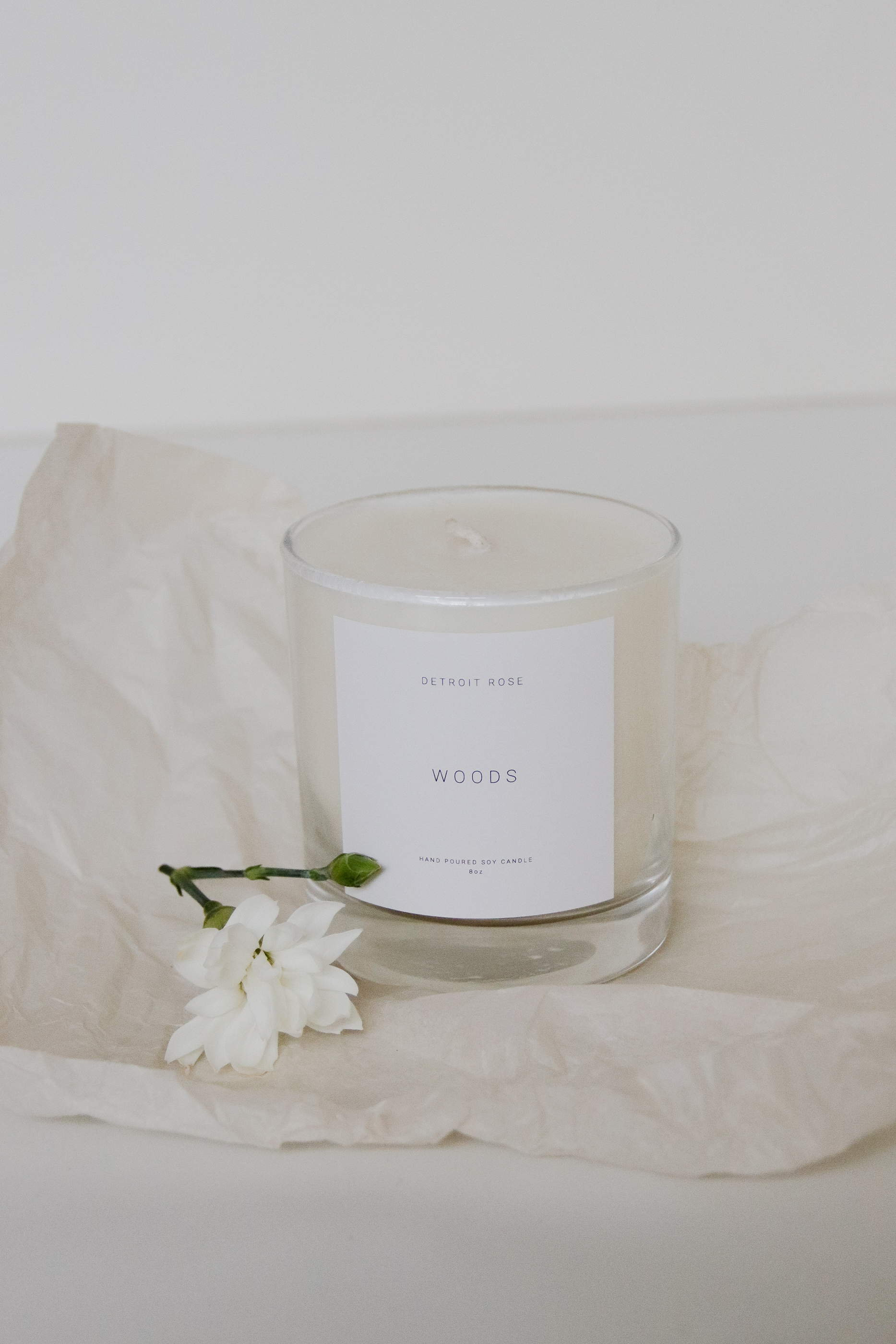 Woods Soy Candle -Detroit Rose - $32