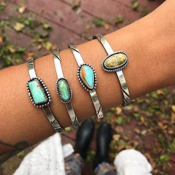 Kaivi Jewelry  is created by the self-taught silversmith Britt Vickers. She uses a lot of beautiful turquoise stones and silver. Some pieces that will be included in the sample sale are new designs, items with minor flaws, and a lot of one of a kind pieces!