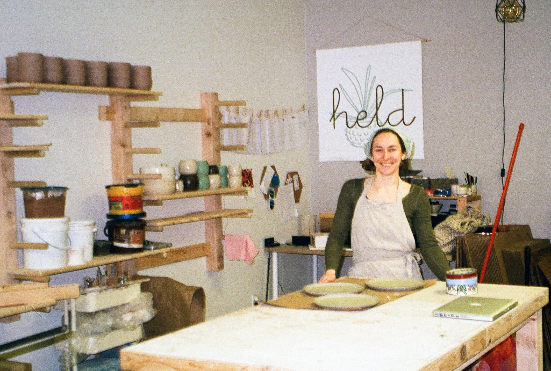 Carrie Hause is the owner and artisan behind Held Ceramics.Held is a collection of handmade pottery for you and your plants. Through surface design and shape, Held creates a tactile and visual experience. -