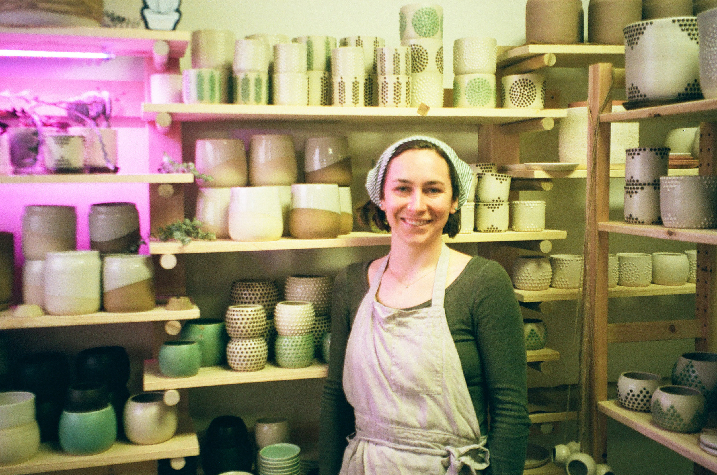 Interviewed Carrie Hause of Held Ceramics on her creative process and took photos at her studio.