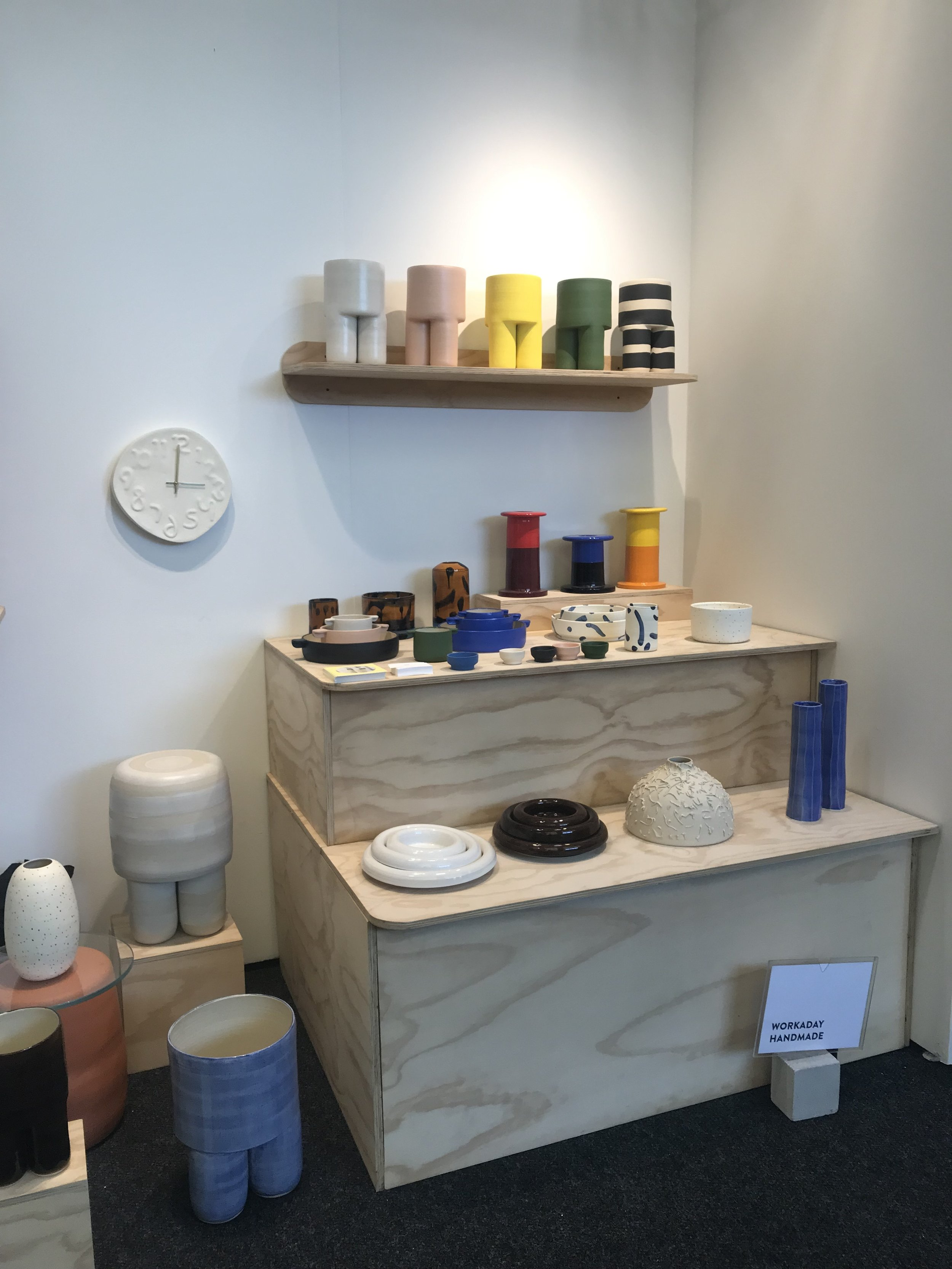 One of my favorite booths at the show,  Workaday Handmade Ceramics . So cute!