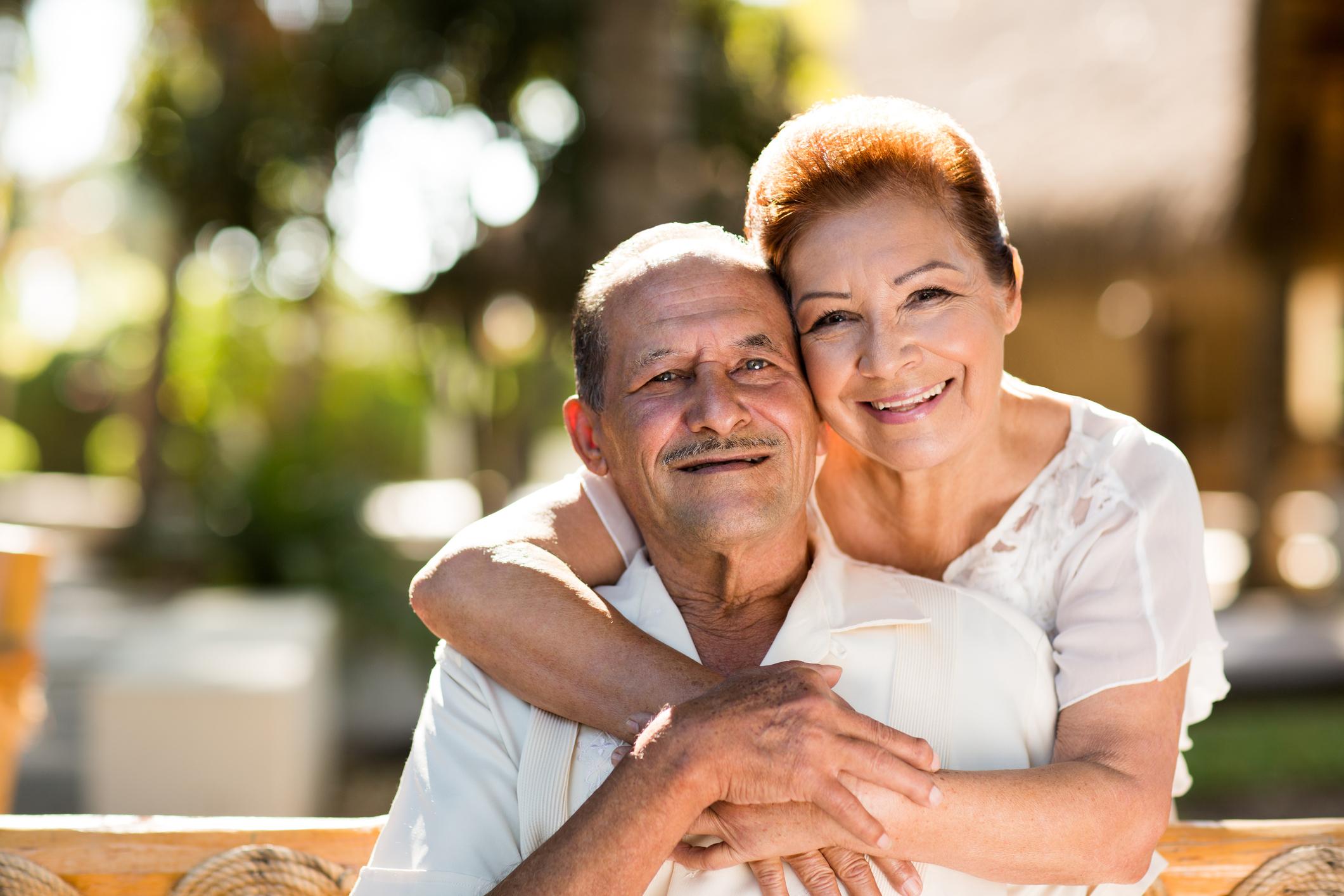 Hispanic Senior Citizen Couple