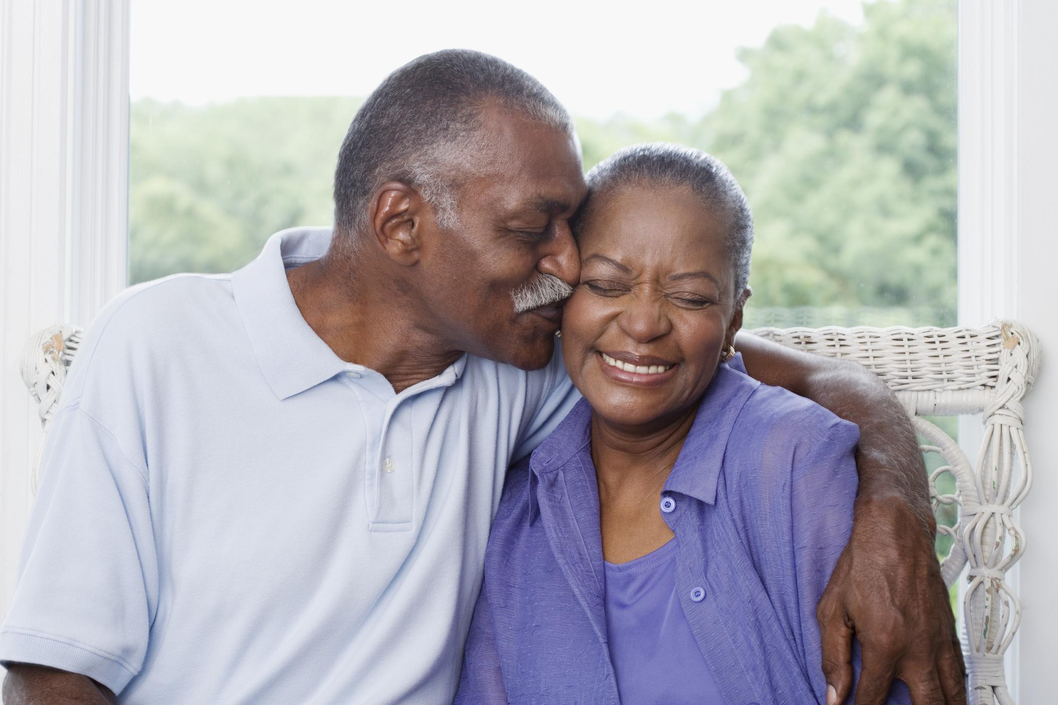 Happy African American Senior Couple