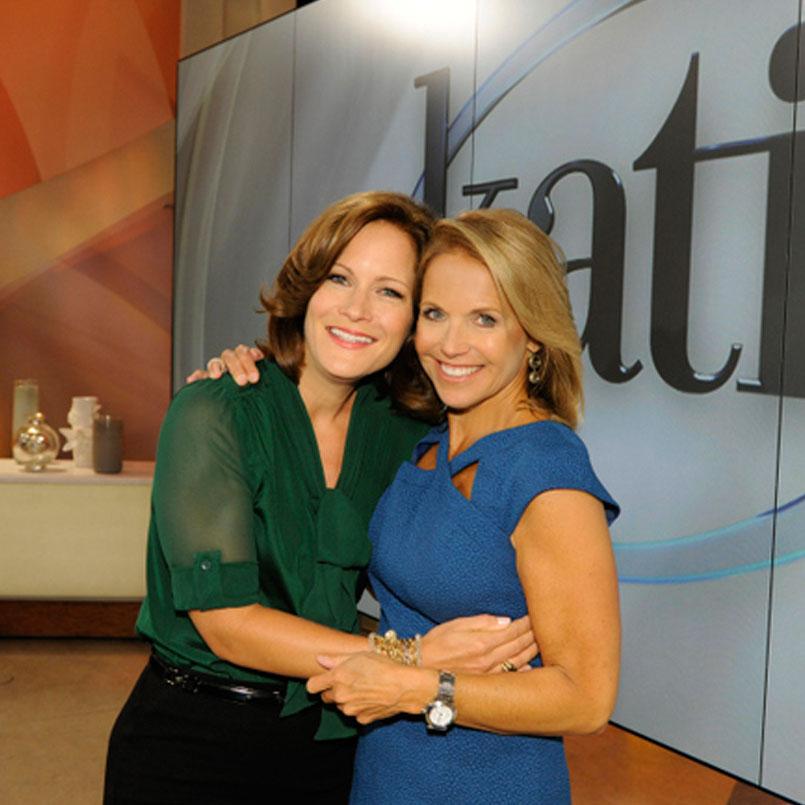 Liz with  Katie Couric