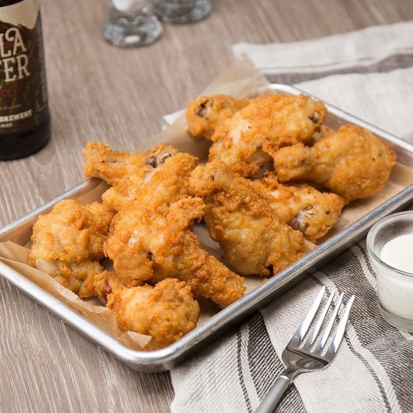 Come in and try our new Wings - Available in Spicy Buffalo, BBQ, Plain Jane. Try them with a side of Blue Cheese or Honey Mustard. They are Flying (get it) out of here. #funwithfries #buffalowings #wingsandfries #burgeratti #eatgood