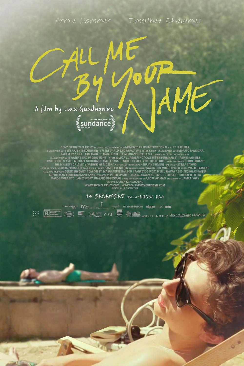 Direct by Luca Guadagnino - Written by James Ivory - Based on the novel by André Aciman