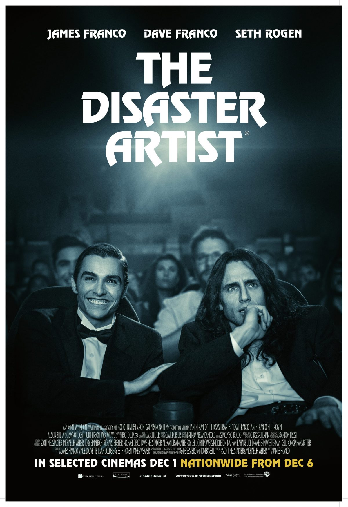 Directed by James Franco - Written by Scott Neustadter and Michael H. Weber - Based on the book by Greg Sestero and Tim Bissell
