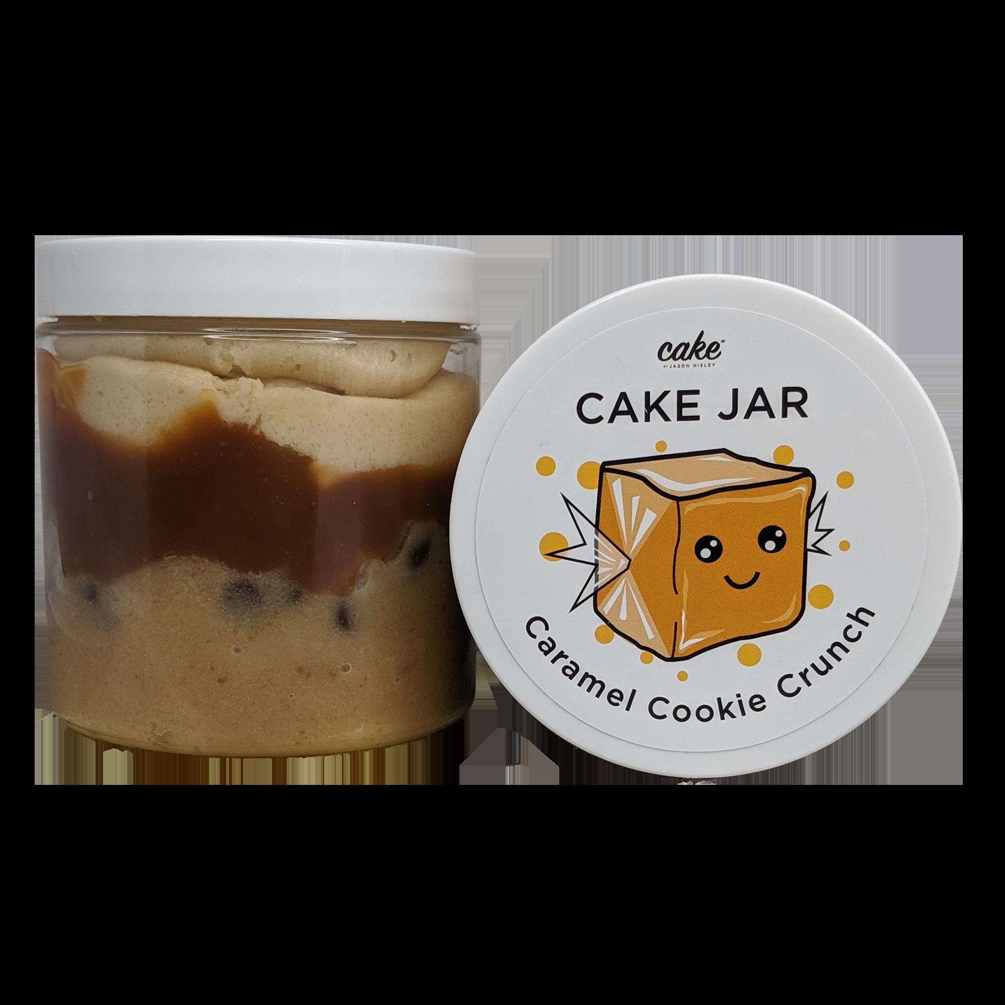 Caramel Cookie Crunch Cake Jar