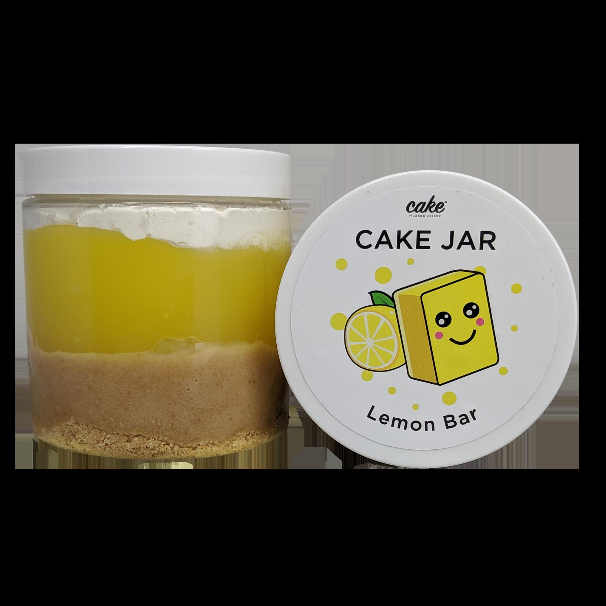 Lemon Bar Cake Jar