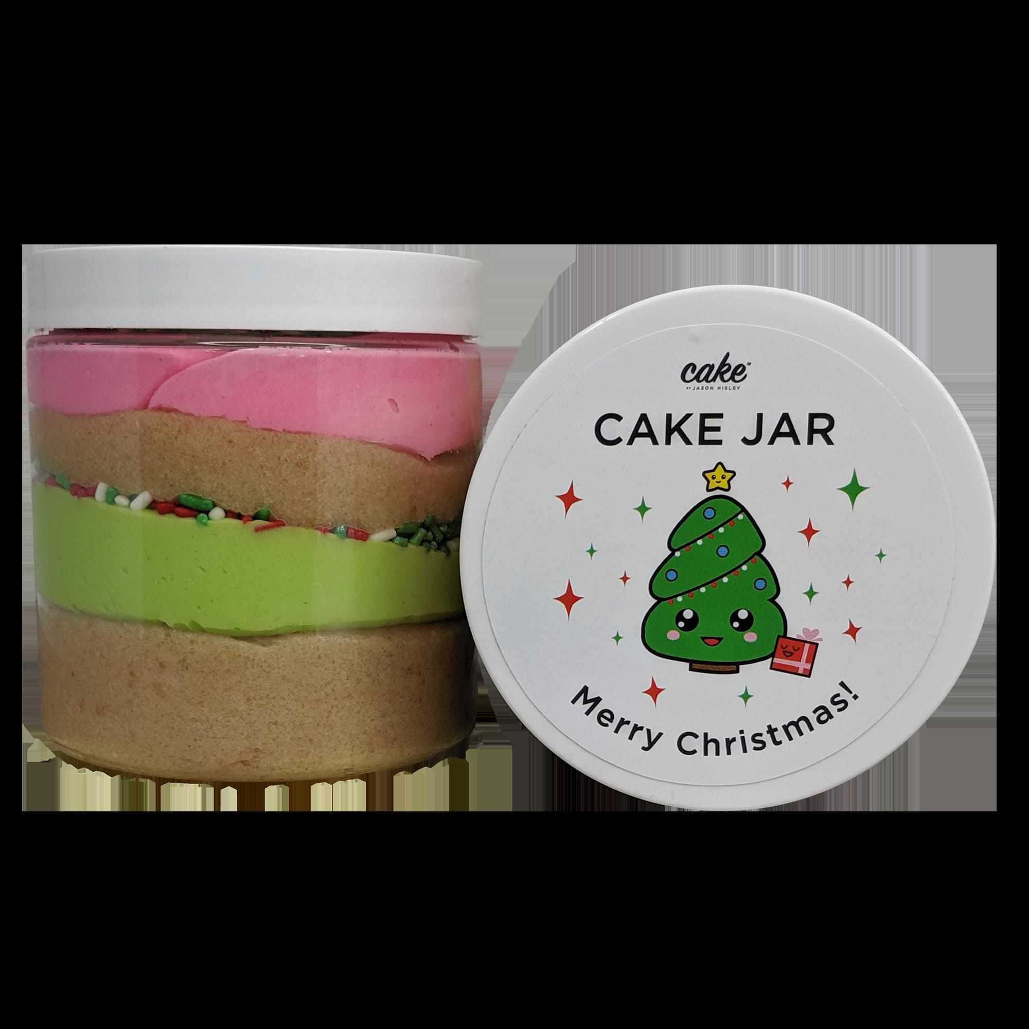 Christmas Cake Jar