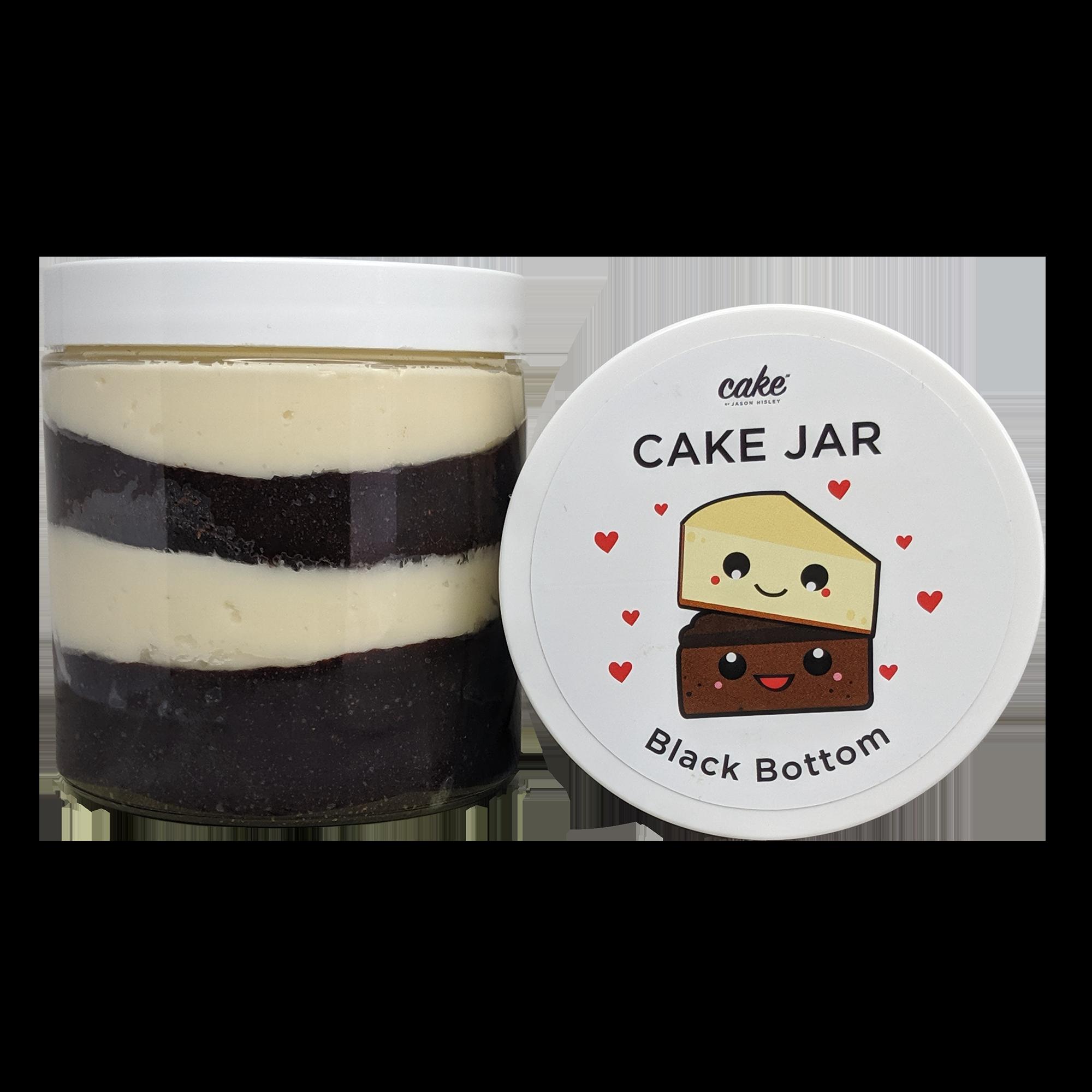 Black Bottom Cake Jar