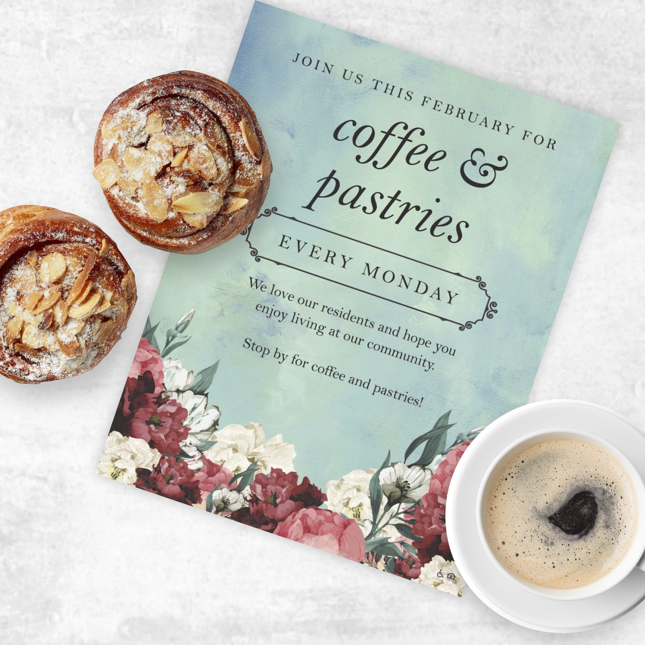 Grab your coffee & pastries invite here.