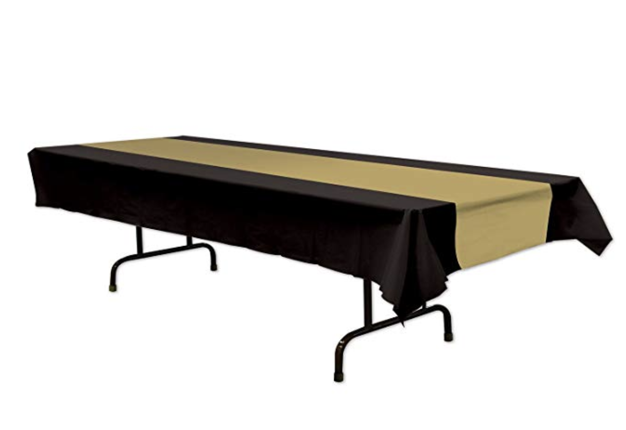 Black and Gold Table Runner - $5.92 Amazon Prime