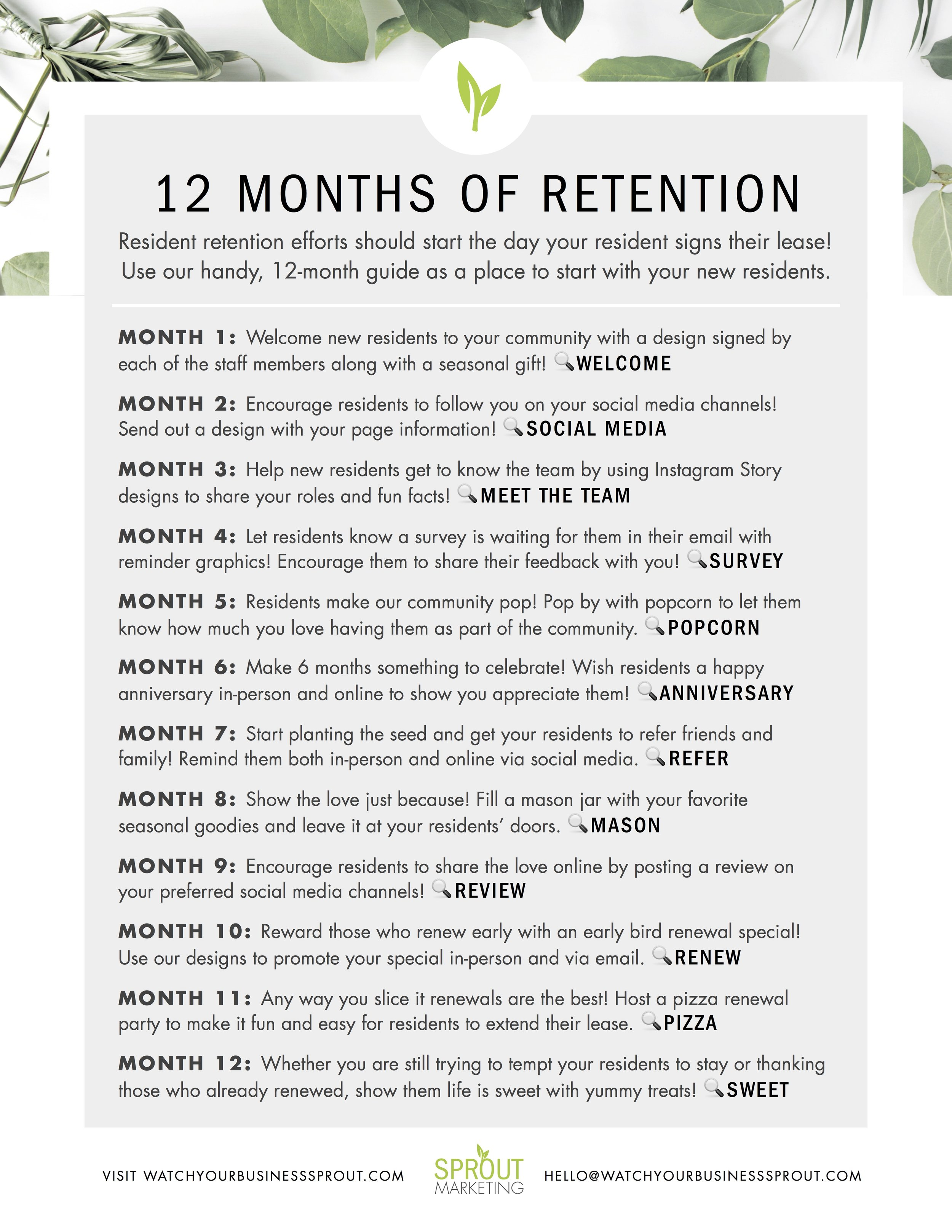 Click the image to download your 12-month retention plan.    Search the Sprout catalog here using 🔎 word.