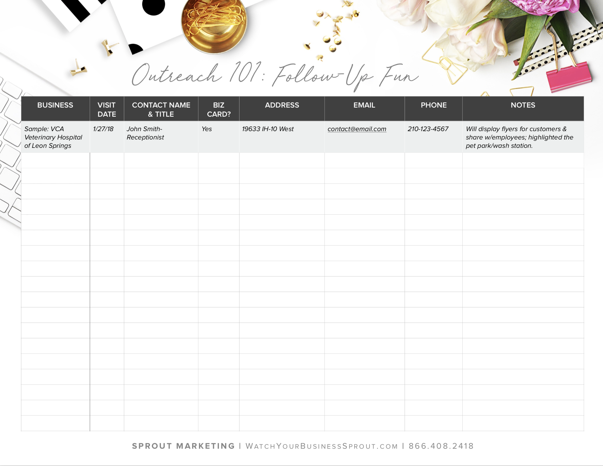 Click on the image to grab a copy of our outreach spreadsheet.